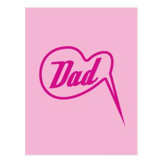 postal retra rosada de la burbuja del discurso del