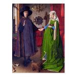 Postal: Retrato de boda en enero Van Eyck