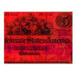 Postal roja confederada