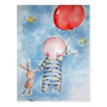 Postal roja de Baloon