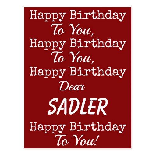 Postal roja de la canción del feliz cumpleaños