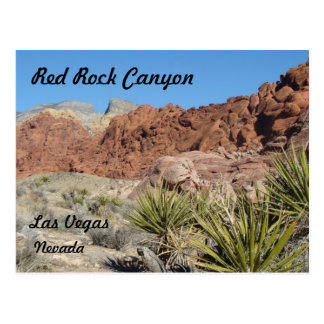 Postal roja de la roca
