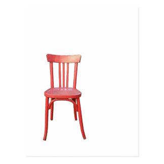 Postal roja de la silla