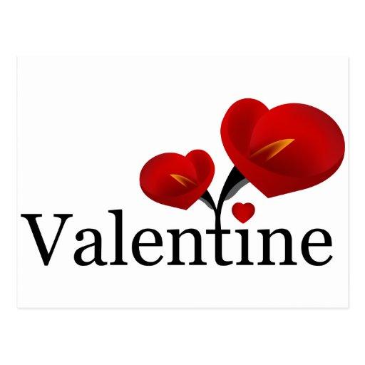 Postal roja de la tarjeta del día de San Valentín