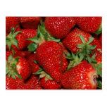 Postal roja de las fresas