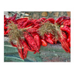Postal roja de los chiles