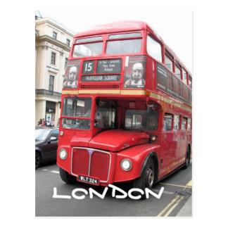 Postal roja del autobús de Londres