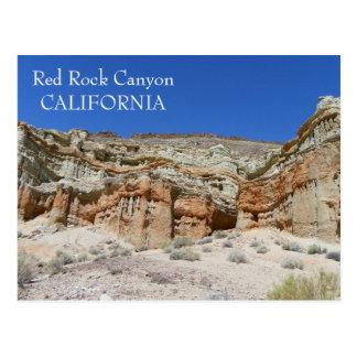 ¡Postal roja del barranco de la roca! Tarjeta Postal