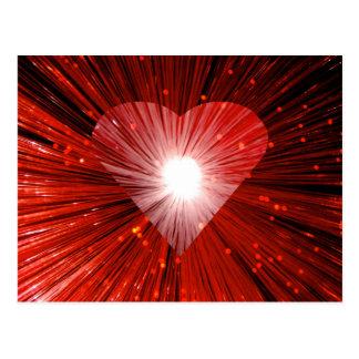 Postal roja del corazón