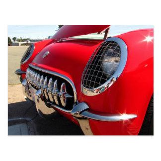 Postal roja del ~ del Corvette