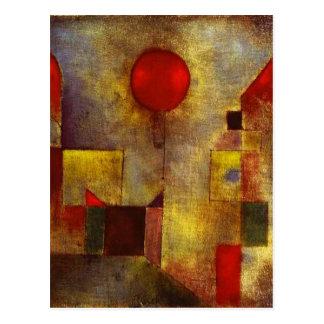 Postal roja del globo de Paul Klee
