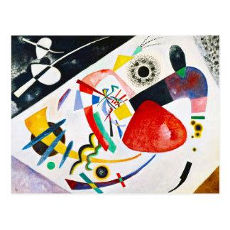 Postal roja del punto de Kandinsky