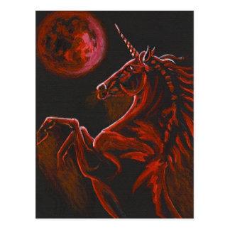 Postal roja del unicornio 2