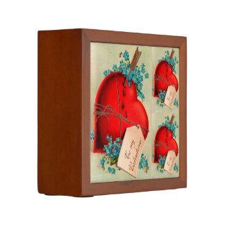Postal roja grande de la tarjeta del día de San Portalápices