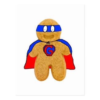 postal roja y azul del superhéroe del hombre de pa