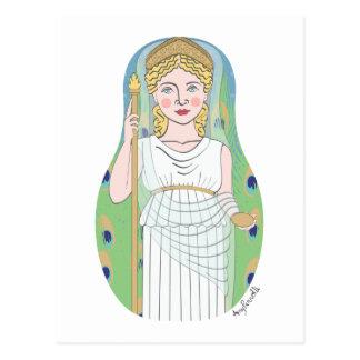 Postal romana de Juno Matryoshka de la diosa