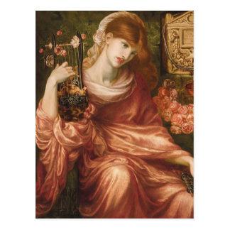 Postal romana del jugador de la arpa de Rossetti