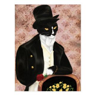 Postal romántica de Sr. Darcy Cat