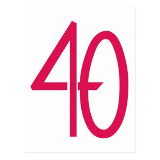 Postal rosada 40