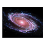 Postal rosada de la galaxia espiral
