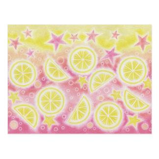 Postal rosada de la limonada