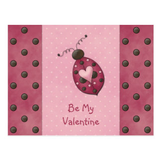Postal rosada de la tarjeta del día de San Valentí