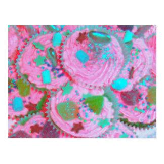 Postal rosada de las magdalenas