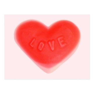 Postal rosada del amor