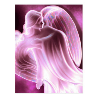 Postal rosada del ángel
