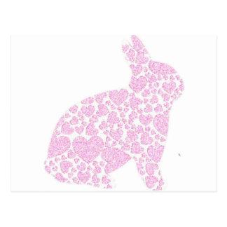 Postal rosada del conejito