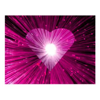 Postal rosada del corazón