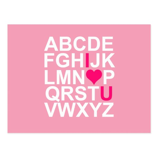 Postal rosada del corazón te amo