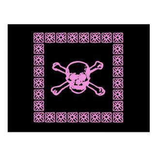 Postal rosada del cráneo