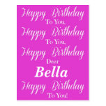 Postal rosada del feliz cumpleaños