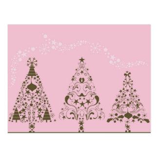 Postal rosada del navidad