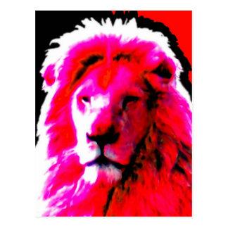 Postal rosada principal del león