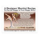 Postal rubia de la receta de Martini del brownie