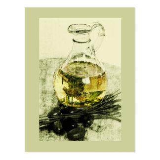 postal rústica del aceite de oliva