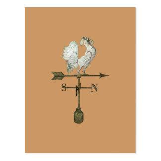 Postal rústica del gallo