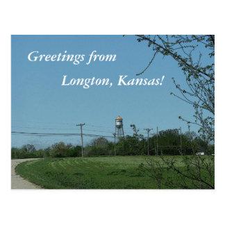 Postal: ¡Saludos de Longton, Kansas! Postal