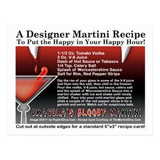 Postal sangrienta de la receta de Halloween Martin