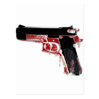 Postal sangrienta del arma