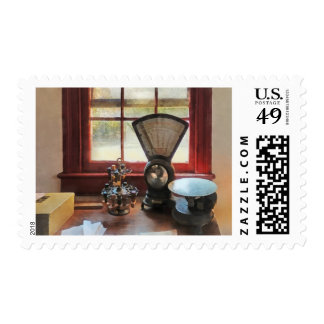 Postal Scale and Rubber Stamps