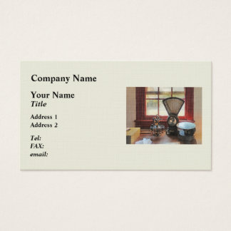 Postal Scale and Rubber Stamps Business Card