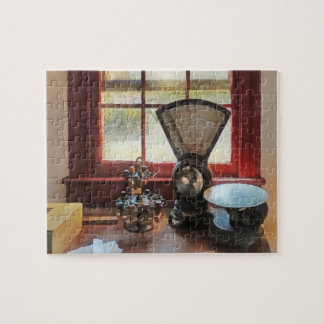 Postal Scale and Rubber Stamps Jigsaw Puzzle