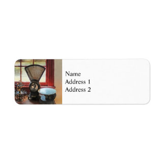 Postal Scale and Rubber Stamps Label