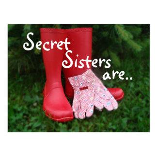 Postal secreta de la hermana de las botas rojas -