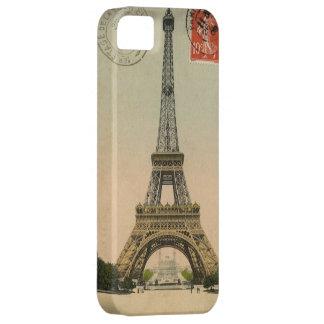 Postal sellada torre Eiffel del vintage iPhone 5 Funda