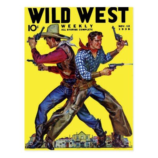 Postal semanal del oeste salvaje de noviembre de 1