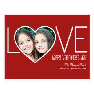 Postal sentida del el día de San Valentín del amor